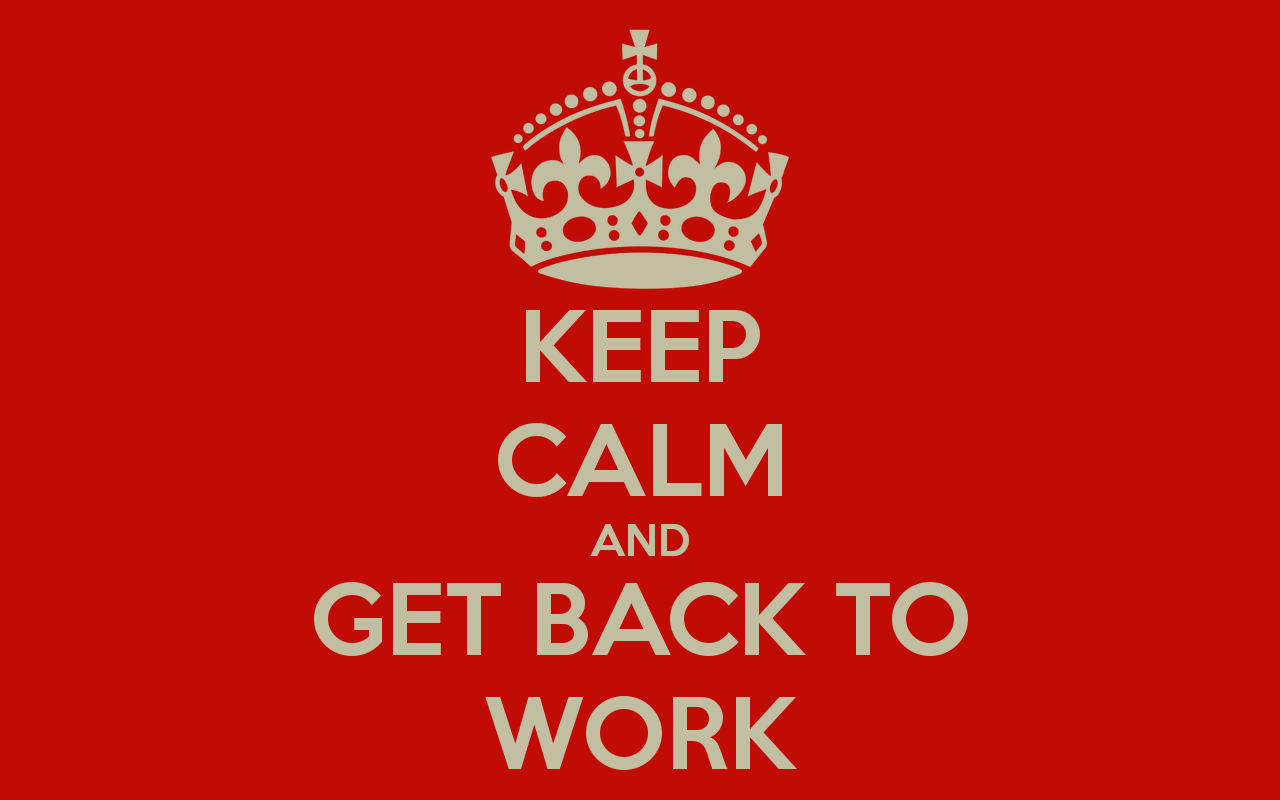 back to work-keep calm
